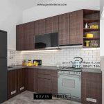 Kitchen Set HPL Motif Kayu Perumahan Bukit Nusa Indah Ciputat Tangerang id3535p
