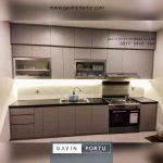 Kitchen Set Minimalis Modern Warna Abu-abu Perumahan Villa Gunung Lestari Ciputat Tangerang id3685