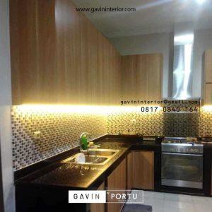 Bikin Custom Kitchen Set Motif Kayu di Serpong Tangerang id4606P
