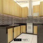 Bikin Kitchen Set Motif Kayu Perumahan Griya Loka BSD Serpong Tangerang id5609P