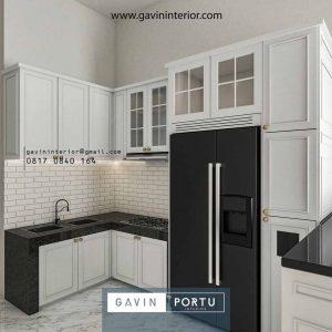 Bikin Kitchen Set Semi Klasik Warna Putih Villa Regency Periuk Tangerang id4165p
