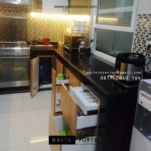 Buat Kitchen Set HPL Motif Kayu Perumahan Griya Loka BSD Serpong Tangerang Id4606P