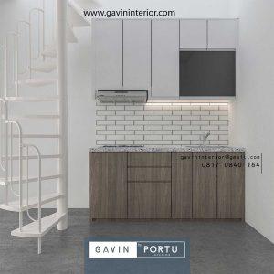 Kitchen Set HPL Motif Kayu Mungil Grand Residence City Setu Bekasi id4103p