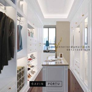 Jasa Buat Walk In Closet Warna Putih