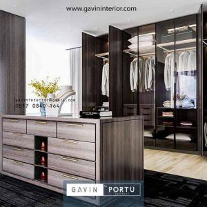 Walk in closet desain minimalis modern finishing HPL