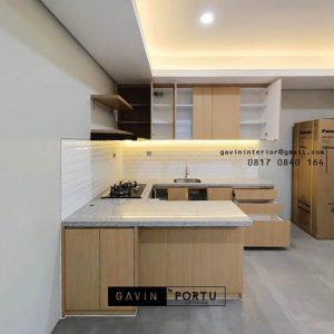 Jasa Kitchen Set Minimalis Modern Motif Kayu Kencana Loka 2 Extension Serpong Tangerang Id4867P