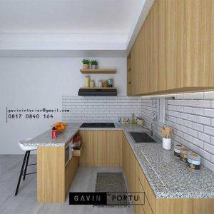 Kitchen Set Minimalis Modern Motif Kayu Kencana Loka 2 Extension Serpong Tangerang ID4867T