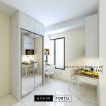 Lemari Pakaian Sliding Putih Apartemen kebayoran icon Kebayoran Lama Jakarta Id4783