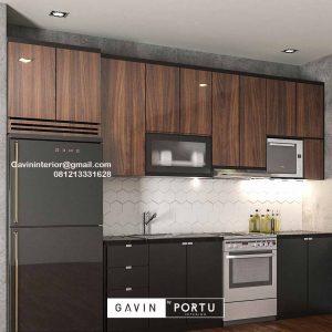 Kitchen Set HPL Motif Kayu & Grey Perumahan Kayu Putih Residence Pulo Gadung Jakarta Id4832P