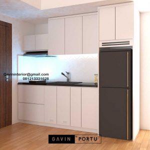 Kitchen Set Minimalis Putih Apartemen Signature Park Grande Kramat Jati id4774P