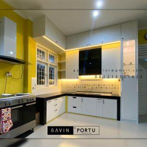 Contoh Kitchen Set Minimalis Warna Putih H Hasan Baru Pasar Rebo Jakarta ID4624PT