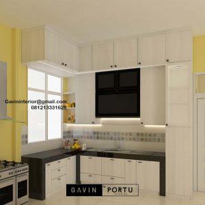 Contoh Kitchen Set Warna Putih H Hasan Baru Pasar Rebo Jakarta ID4624PT