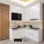 Design Kitchen Set Minimalis Putih Perumahan Villa Rizki Ilhami Kelapa Dua Tangerang ID4823