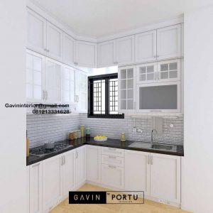 Kitchen Set Design Klasik Putih Perumahan Laverde Cluster Lunaire Serpong Utara ID4760
