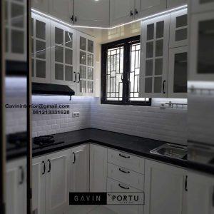 Kitchen Set Design Klasik Putih Perumahan Laverde Cluster Lunaire Serpong Utara Tangerang ID4760