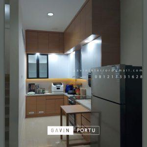 Kitchen Set HPL Motif Kayu & Putih Perumahan Taman Nyiur Sunter Agung Tanjung Priok Jakarta Utara Id5051P