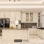 Buat Kitchen Set Klasik Putih Doff Cluster Violin Golf Island Pik Penjaringan ID4969P