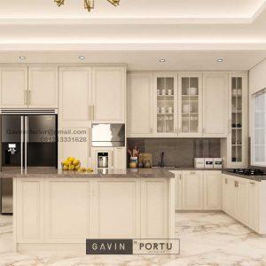 Buat Kitchen Set Set Klasik Putih Doff Cluster Violin Golf Island Pik Penjaringan ID4969P
