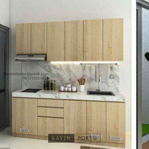 Harga Kitchen Set Motif Kayu Perumahan Darmawangsa Residence Tambun Utara ID5144