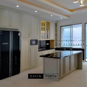 Jasa Buat Kitchen Set Set Klasik Putih Doff Cluster Violin Golf Island Pik Penjaringan ID4969P
