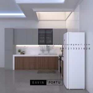 Model Kitchen Set Minimalis Motif Kayu & Grey Teluk Gong Penjaringan Jakarta ID5133PT